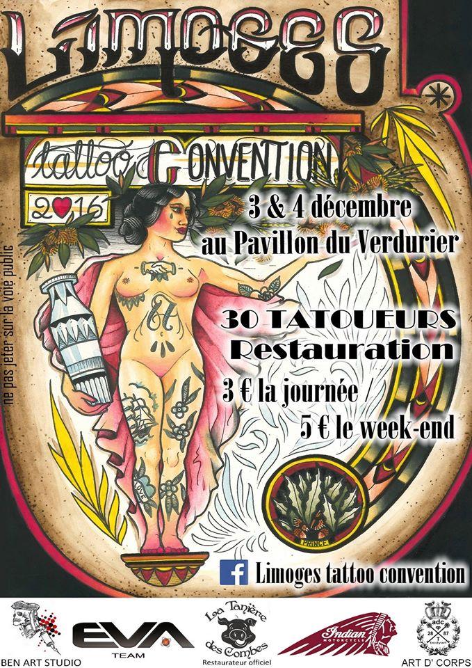 Rdv la limoges tattoo convention en d cembre 2016 for La tattoo convention